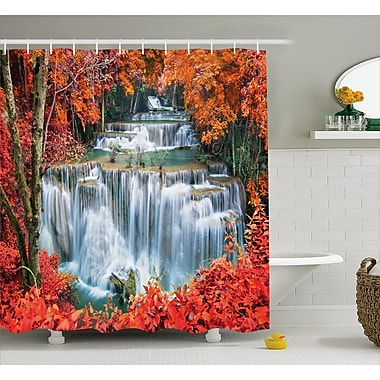 East Urban Home Landscape Botanic Fall Forest Shower Curtain; 69'' W x 75'' L