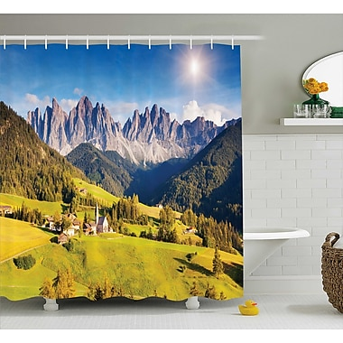East Urban Home Nature Morning at Countryside Shower Curtain; 69'' W x 84'' L