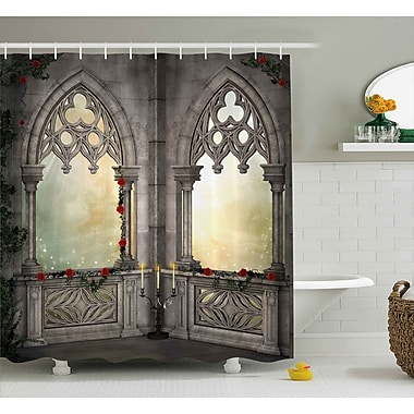 East Urban Home Gothic Oriental Rose and Flower Shower Curtain; 69'' W x 75'' L