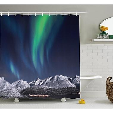East Urban Home Sky Northern Night Norway Solar Shower Curtain; 69'' W x 84'' L