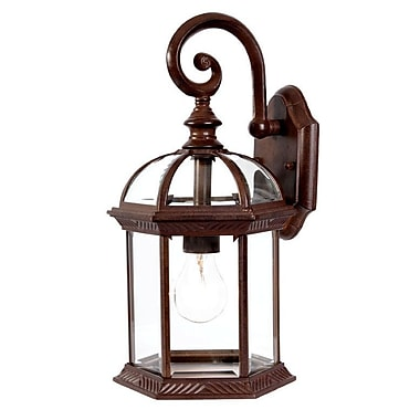 Darby Home Co Grenville 1-Light Outdoor Wall Lantern; Burled Walnut