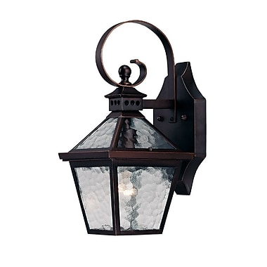 Darby Home Co Britton 1-Light Outdoor Wall Lantern; Architectural Bronze