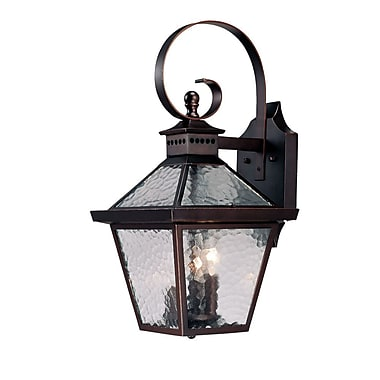Darby Home Co Britton 3-Light Outdoor Wall Lantern; Architectural Bronze
