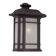 Darby Home Co Broadmoor 1-Light Outdoor Flush mount; Architectural Bronze
