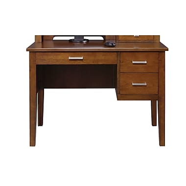 Darby Home Co Eaton Keyboard Drawer Computer Desk; Brown Cherry