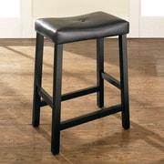 Darby Home Co Lottie 24'' Bar Stools w/ Cushion (Set of 2); Black