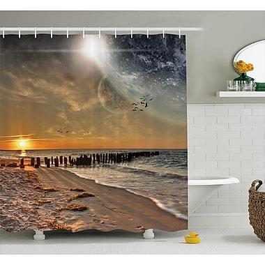East Urban Home Space Magical Solar Eclipse Shower Curtain; 69'' W x 84'' L