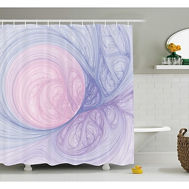 East Urban Home Purple Abstract Fractal Shapes Shower Curtain; 69'' W x 75'' L