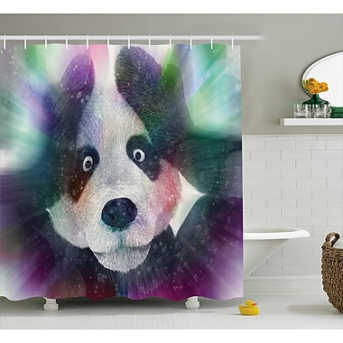 East Urban Home Fabric Psychedelic Panda Shower Curtain; 69'' W x 84'' L