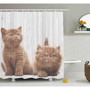 East Urban Home Animal Cute Kitten Kids Decor Shower Curtain; 69'' W x 84'' L