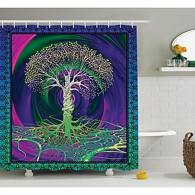 East Urban Home Nature Digital Psychedelic Art Print Shower Curtain; 69'' W x 75'' L