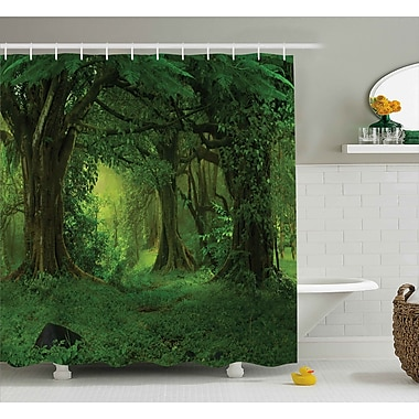 East Urban Home Nature Tropical Jungle Trees Shower Curtain; 69'' W x 75'' L