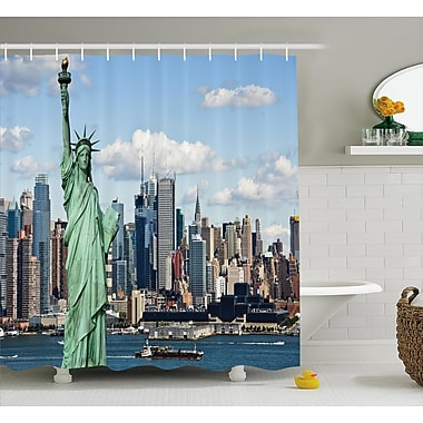 East Urban Home Harbor Statue of L?berty NYC Shower Curtain; 69'' W x 70'' L