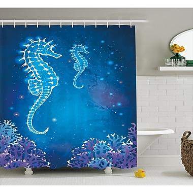 East Urban Home Ocean Pipefish Sea Creatures Shower Curtain; 69'' W x 75'' L