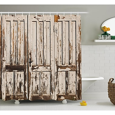 East Urban Home Vintage Vertical Lined Planks Shower Curtain; 69'' W x 70'' L