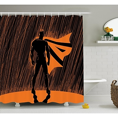 East Urban Home Superhero Super Powered Hero Shower Curtain; 69'' W x 84'' L