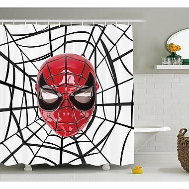 East Urban Home Superhero Spider Hero Mask Art Shower Curtain; 69'' W x 84'' L