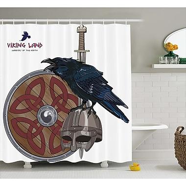 East Urban Home Viking Nordic War Army Design Shower Curtain; 69'' W x 75'' L