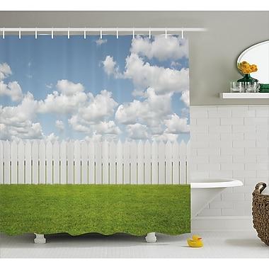 East Urban Home Scenery Sky w/ Clouds Farm Shower Curtain; 69'' W x 84'' L