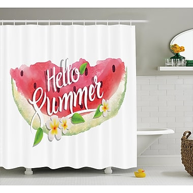 East Urban Home Watercolor Summer Welcome Quote Shower Curtain; 69'' W x 84'' L