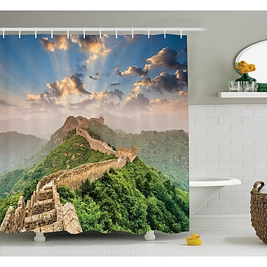 East Urban Home China Old Wonder on High Hill Shower Curtain; 69'' W x 75'' L