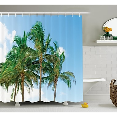 East Urban Home Tropical Exotic Idyllic Nature Shower Curtain; 69'' W x 70'' L