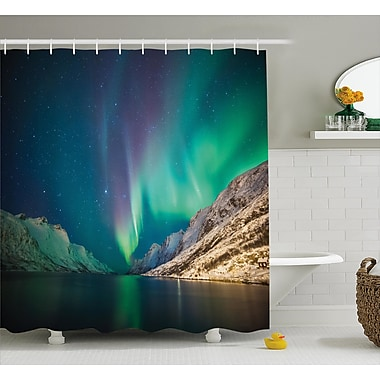 East Urban Home Nature Mystical Northern Lights Shower Curtain; 69'' W x 75'' L