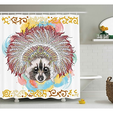 East Urban Home Tribal Native Indian American Shower Curtain; 69'' W x 84'' L