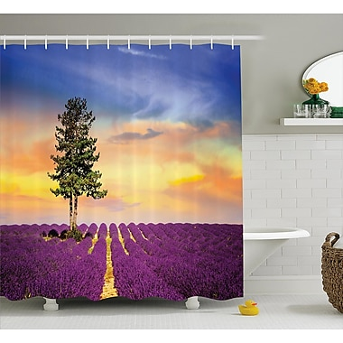 East Urban Home Lavender French Countryside Shower Curtain; 69'' W x 70'' L