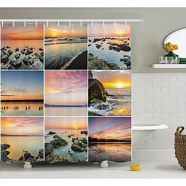 East Urban Home Nautical Ocean at Sea Sunset Shower Curtain; 69'' W x 84'' L