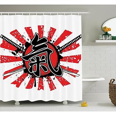 East Urban Home Japanese Swords Armor Pop Art Shower Curtain; 69'' W x 70'' L