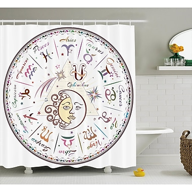 East Urban Home Zodiac Astrological Horoscope Shower Curtain; 69'' W x 84'' L
