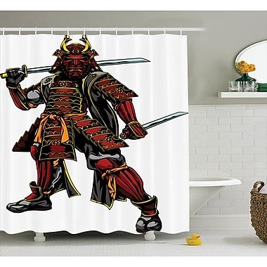 East Urban Home Japanese Samurai Swords War Shower Curtain; 69'' W x 75'' L