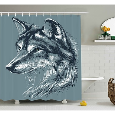 Ebern Designs Harper Wild Exotic Wolf Image Shower Curtain; 69'' W x 75'' L