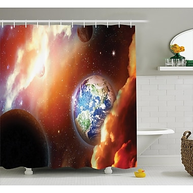 Ebern Designs Helga Nebula Stars in Solar Shower Curtain; 69'' W x 84'' L
