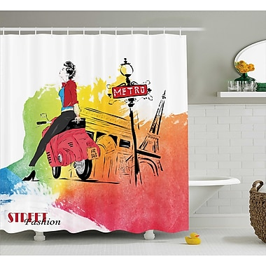 Ebern Designs Deidra Tower Street Fashion Shower Curtain; 69'' W x 84'' L