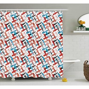 Ebern Designs Emilio Grunge Graffiti Pattern Shower Curtain; 69'' W x 75'' L