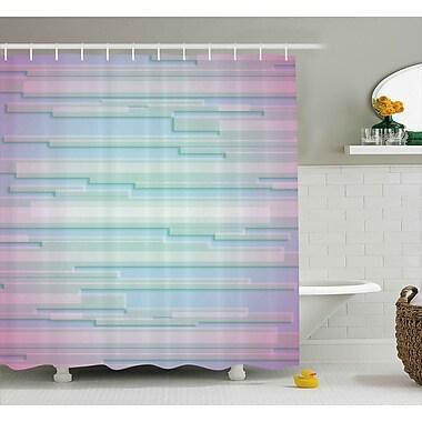 Ebern Designs Enrique Minimal Digital Decor Shower Curtain; 69'' W x 84'' L