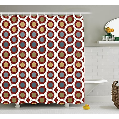 Ebern Designs Erline Circular Forms Rounds Shower Curtain; 69'' W x 70'' L