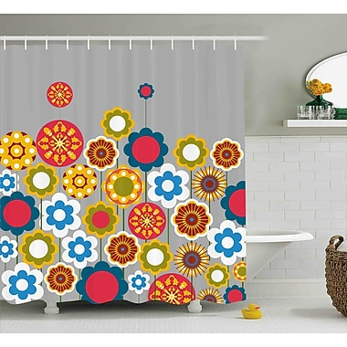 Ebern Designs Faviola Modern Colorful Summer Shower Curtain; 69'' W x 75'' L