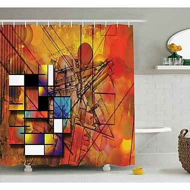Ebern Designs Florance Geometric Figures Image Shower Curtain; 69'' W x 75'' L