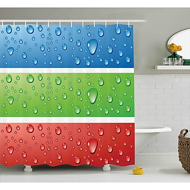 Ebern Designs Frankie Water Drops on a Plastic Shower Curtain; 69'' W x 75'' L