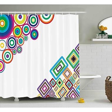 Ebern Designs Fredia Colored Rectangle Form Shower Curtain; 69'' W x 75'' L