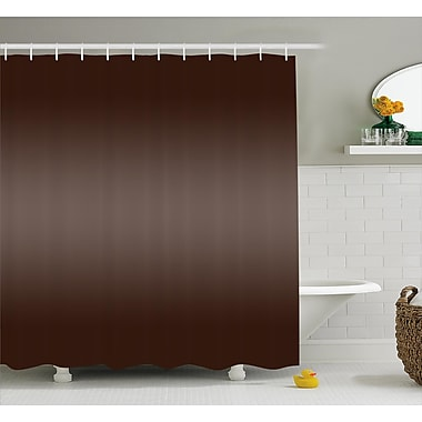 Ebern Designs Inspired Modern Natural Wood Art Shower Curtain; 69'' W x 84'' L