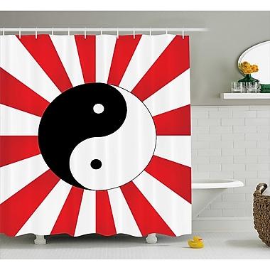East Urban Home Red Ying Yang Pop Art Asian Shower Curtain; 69'' W x 70'' L