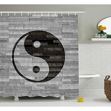 Ebern Designs Alejandro Ying Yang Harmony Asian Shower Curtain; 69'' W x 70'' L