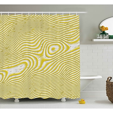 Ebern Designs Chantrell Inner Round Stripes Shower Curtain; 69'' W x 75'' L