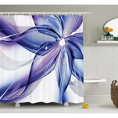 Ebern Designs Aaliyah Geometric Flowers Shower Curtain; 69'' W x 75'' L
