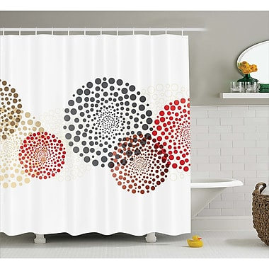 Ebern Designs Agawam Circled Modern Dots Shower Curtain; 69'' W x 84'' L