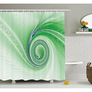 Ebern Designs Aleshia Abstract Fractal Spirals Shower Curtain; 69'' W x 70'' L